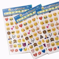 4 Lembar (1 Lembar = 48 Stiker) Cute Lovely 48 Die Cut Emoji Smile Sticker untuk Pesan Notebook High Vinyl Lucu Kreatif-Intl