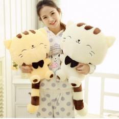 45 Cm Lovely Big Face Smiling Cat Stuffed Plush Toys Soft Animal Boneka Pabrik Harga Terendah Hadiah Terbaik untuk Anak-anak Kualitas Tinggi-Intl