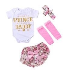 Toko 4 Pcs Bayi Bayi Cetak Huruf Baju Monyet Ikatan Simpul Celana Ikat Kepala Kaus Kaki Intl Lengkap Indonesia