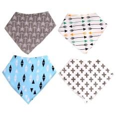 Harga 4Pcs Se Baby Bibs Saliva Triangle Head Scarf Grey Intl Original