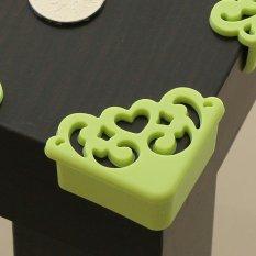 4 Pcs/lot Corner Protector Hollow Pola Heart Designer Perlindungan Penting untuk Anak-anak Desain Tebal untuk Sudut Pada Furnitur-Hijau -Intl