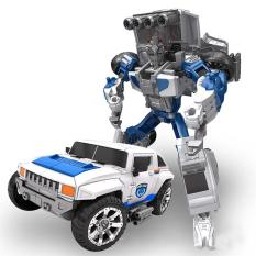 5 In 1 Transformation Robot City Secure Team Police Car Motorcycle Helicopter Airship SUV Style:SUV