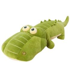 50 Cm Ukuran Lebih Kecil Floss Mainan Crocodile Sleeping Bantal Sofa Tergantung Indah Besar Zhen Gambar Mainan Figurine Rag boneka Teman Laki-laki (Hijau) -Internasional
