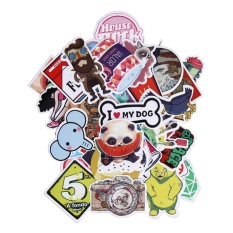 Uebfashion 50 Pcs Tahan Air Doodle Sticker For Bagasi Koper Sepeda Laptop By Uebfashion.