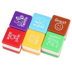 6 Pcs English Words Praise Reward Stamp Printing Set For Teacher