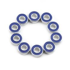 608RS Bantalan Bola Disegel Ganda Counterweight Bearing untuk Ujung Jari Mainan Spinner (Biru)