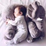 Ulasan 60 Cm Panjang Bayi Lembut Menenangkan Elephant Playmate Tenang Boneka Mainan Bayi Gajah Bantal Plush Mainan Boneka Boneka