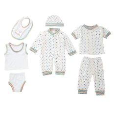 Spesifikasi 8 Buah Kapas Pakaian Bayi Yang Baru Lahir Membuat Garis Titik Titik Online