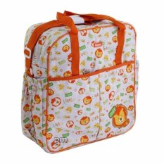 AA Toys Kiddy Diaper Bag Bordir Orange Motif Lion - Tas Bayi Orange