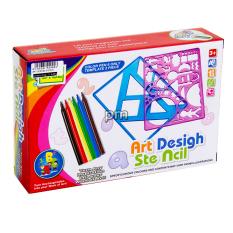 AA Toys Mainan Art Desigh Ste Ncil QJ5537 - Mainan Stencil
