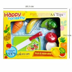 AA Toys Mainan Buah Potong 6 Pcs Set Fruit Vegetable