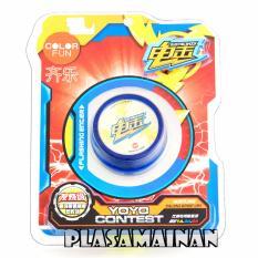 AA Toys Yoyo Contest Electric Shock Color Fun Biru - Mainan Yoyo