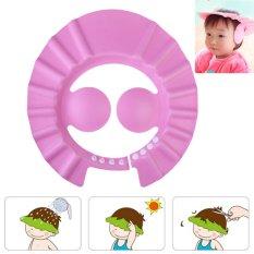 Adjustable Bayi Mandi Shower Cap Cuci Perisai Rambut (pink)-Intl By Welcomehome.