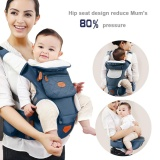 Ulasan Adjustable Bayi Bayi Hip Seat Carrier Breathable Ergonomis Wrap Sling Backpack Biru Muda Intl