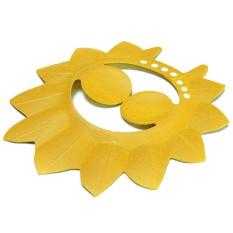 Yg Dpt Menyesuaikan Diri Bayi Anak Daun Maple Sisa Turki Mandi Shower Cap Pelindung Rambut Topi Kuning