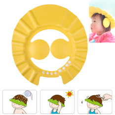 Adjustable Bayi Spoo Topi Mandi Shower (kuning)-Intl By Welcomehome.