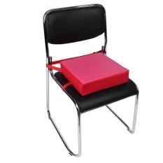 Adjustable Children Meningkat Kursi Pad Booster Kursi Tinggi Seat Cushion (Permukaan Atas Merah)-Intl