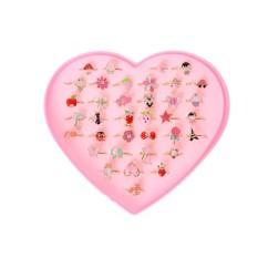 Adjustable Kids Sweetlloy Rings Children Costume Jewelry Toy Gift - intl