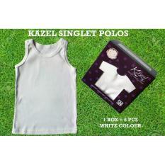 Jual Adora Baby Kazel Singlet Polos White Edition Bayi Modern Murah