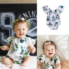 Bayi Yang Baru Lahir Manis Gadis Bunga Romper Bodysuit Jumpsuit Pakaian Pakaian 0-24 M