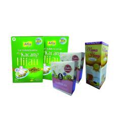 Afis Life (2 Pcs) + Mama Bear (2 Pcs) + Madu Busui (1 Pcs) - Paket Pelancar Asi - Sari Bubuk Kedelai dan Kacang Hijau