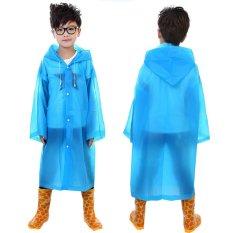 Jaket Anak Usia 6 ~ 12 Jas Hujan Poncho Bertudung Jas Hujan Panjang Penutup Biru By Yidea Hongkong.