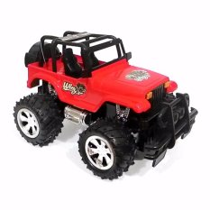 Ahs Rc Mobil Bigfoot Jeep 1 24 Merah Asli