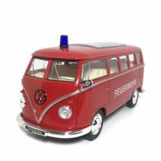 Harga Hemat Ahs Welly Diecast Miniatur Mobil Volkswagen Classical Bus Feuerwehr Skala 1 31 Merah
