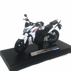AHS Welly Nex Diecast Miniatur Motor Honda CB500F Skala 1/18 - Putih