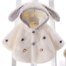 Jual Ai Home Bayi Girls Thicken Soft Coat Hooded Jaket Putih Intl Branded