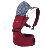 Review Pada Aiebao Baby Waist Stool Baby With Multi Functional Cotton Shoulders Seat Red Intl