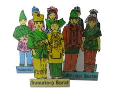 MAKET BAJU ADAT INDONESIA / TRADITIONAL CLOTH MODEL / KAYU / WOOD / MAINAN EDUKASI / EDUKATIF / ALAT PERAGA / AIKA EDUCATIONAL TOYS