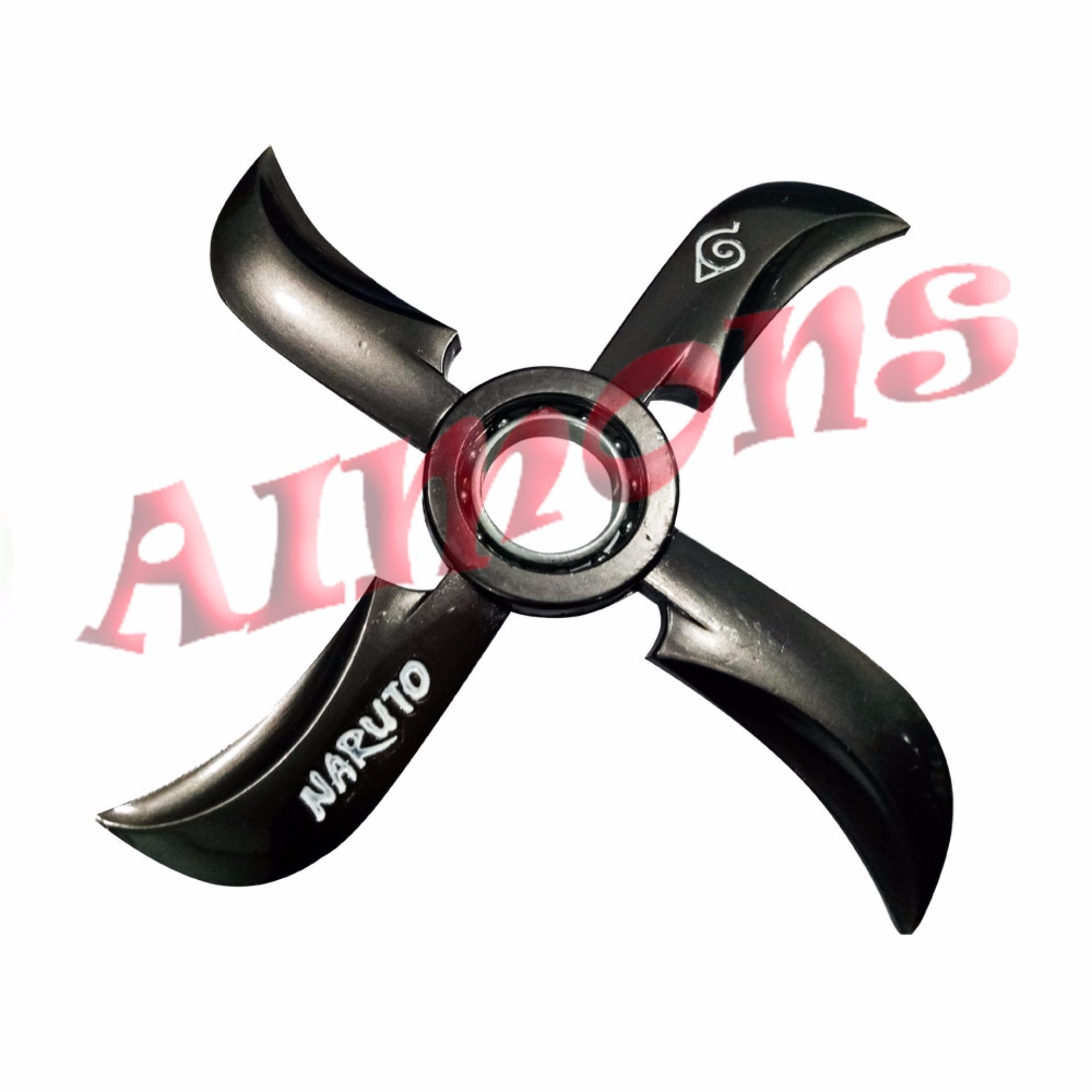 ... Hand Toys Focus Games / Mainan Spiner Aimons Fidget Spinner Naruto Spiner Jari Shuriken - Shuriken 4 Pedang