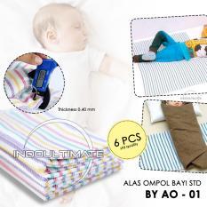 Alas Ompol Bayi 6pcs Strip BY AO-01 / Kain Alas Diapers Ompol Baby / Perlak Bayi / Tatakan Alas Popok / Pakaian Bayi  / perlengkapan bayi / baju bayi