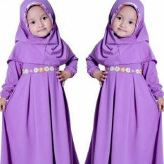 Alin Syari Kid Baju Lebaran Anak Gamis Hijab Maxi Dres Muslim