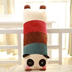 Semua Tumbuh 105*30 Cm Lucu Kartun Panda Tokoh Doll Daftar Orang Ganda Bantal Floss Mainan Mainan Figurine tumbuh Tidur Sofa Bantal (Lingkaran Mata Kaki Cokelat Ya Panda) -Internasional