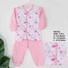 Amaris Piyama Bayi - Baju Tidur Bayi - Setelan Bayi - Pink Rabbit