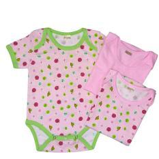 Amaris Set Isi 3 - Baju Jumpsuit Bayi Cewe - Baju Bayi