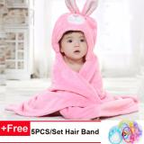 Dapatkan Segera Kids Cartoon Towel Toddler 100 Cotton Bathrobe Baby Boys Girls Spring Animal Hooded Bath Towel Intl