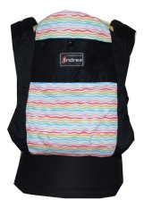 Toko Andrea Soft Structured Gendongan Bayi Stripes On Black Di Indonesia