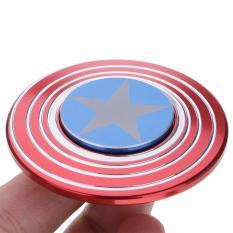 ANGEL - Fidget Spinner Aluminium Premium Captain America Focus Hand Toys Mainan Spinner EDC Aluminium