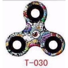 ANGEL - Mix T-030 Fidget Spinner Hand Toys Mainan Tri-Spinner EDC Focus