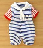 Harga Angkatan Laut Angin Musim Panas Lengan Pendek Pakaian Mendaki Bayi Baju Merk Oem