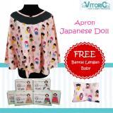 Katalog Apron Menyusui Jaring Vitorio Japanese Doll Gratisbantal Peyang Lengan Celemek Nursing Cover Terbaru