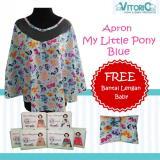 Toko Apron Menyusui Jaring Vitorio Karakter My Little Pony Blue Bantal Peyang Lengan Celemek Nursing Cover Di Dki Jakarta