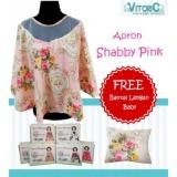 Harga Apron Menyusui Jaring Vitorio Shabby Pink Gratis Bantal Peyang Lengan Celemek Nursing Cover Asli
