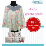Spesifikasi Apron Menyusui Jaring Vitorio Shabby Green Gratisbantal Peyang Lengan Celemek Nursing Cover Online