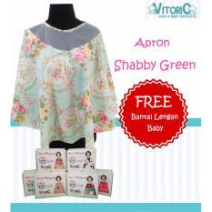 Harga Apron Menyusui Jaring Vitorio Shabby Green Gratisbantal Peyang Lengan Celemek Nursing Cover Terbaik