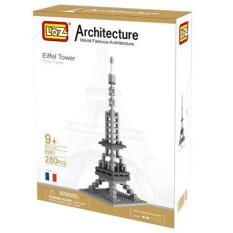 Architecture Eiffel Tower - Original Lego LOZ Diamond Block Mainan Edukasi