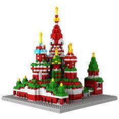 Architecture Saint Basil's Cathedral - Original Lego LOZ Diamond Block Mainan Edukasi